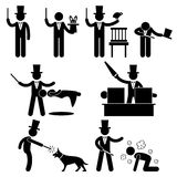 Magician Magic Show Pictogram Royalty Free Stock Image