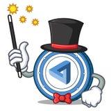 Magician MaidSafeCoin mascot cartoon style. Vector illustration Royalty Free Stock Image