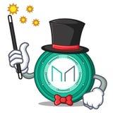 Magician Maker coin mascot cartoon. Vector Illustration Royalty Free Stock Photography