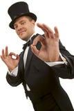Magician Making  Ok  Gesture Stock Photos