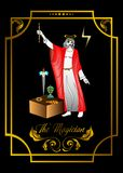 Magician man card. The illustration - card for tarot - the magician Royalty Free Stock Images