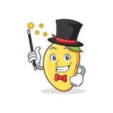 Magician mango character cartoon mascot Stock Images