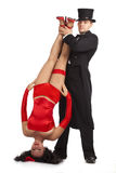 Magician with  marionette Stock Images