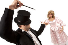 Magician with  marionette Stock Photos