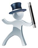 Magician mascot man Royalty Free Stock Photo