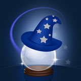 Magician Merlino hat Royalty Free Stock Images
