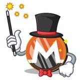 Magician Monero coin character cartoon. Vector illustration Stock Images