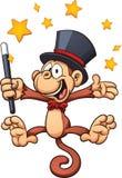 Magician monkey Stock Image