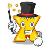 Magician multiply sign icon isolated on mascot. Vector illustration stock illustration