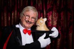 Magician with mustache Stock Photos