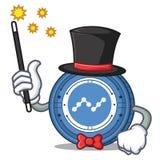 Magician Nano coin mascot cartoon. Vector illustration Stock Photo