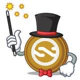 Magician Nxt coin mascot cartoon. Vector illustration Royalty Free Stock Photo