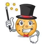 Magician oat cookie isolated with the cartoon. Vector illustration vector illustration