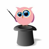 Magician owl Royalty Free Stock Images