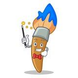 Magician paint brush character cartoon Royalty Free Stock Photos