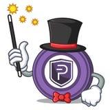Magician Pivx coin mascot cartoon. Vector illustration Stock Photo