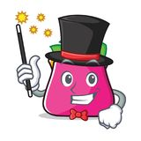 Magician purse character cartoon style. Vector illustration Stock Images