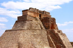 Magician pyramid II. Magician pyramid as part of the archaeological site of uxmal, in yucatan, mexico Royalty Free Stock Image
