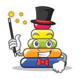 Magician pyramid ring character cartoon vector illustration