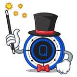 Magician Qash coin mascot cartoon. Vector illustration Stock Image