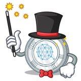 Magician Qtum coin character cartoon. Vector illustration Stock Photo