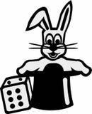 Magician Rabbit in Hat. Vector Stock Photography