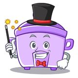 Magician rice cooker character cartoon Royalty Free Stock Photo