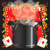 Magician's magic act birthday party invitation Royalty Free Stock Photo