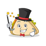Magician sandwich character cartoon style Stock Images
