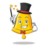 Magician school bell character cartoon Royalty Free Stock Photography