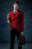 Magician with severed hand. Stock Photography
