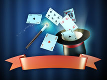 Magician show banner Stock Photos