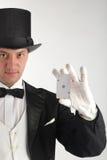 Magician show card Stock Photo