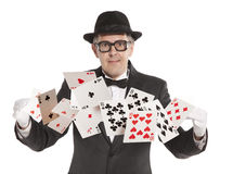 Magician show card Stock Photography