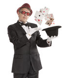 Magician show card Stock Image