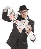 Magician show card Stock Photos