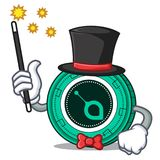 Magician SiaCoin mascot cartoon style. Vector illustration Royalty Free Stock Photography