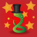 Magician snake Stock Images