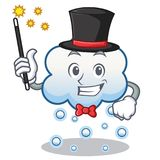 Magician snow cloud character cartoon Stock Photos