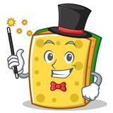 Magician sponge cartoon character funny Royalty Free Stock Images