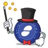 Magician Status coin mascot cartoon. Vector illustration Royalty Free Stock Photos