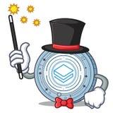 Magician Stratic coin mascot cartoon. Vector illustration Royalty Free Stock Image