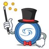 Magician Syscoin mascot cartoon style. Vector illustration Stock Photography