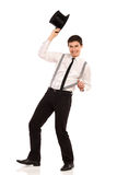 Magician taking hat off. Royalty Free Stock Photo