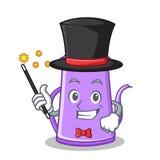 Magician teapot character cartoon design Royalty Free Stock Photo