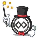 Magician Tenx coin mascot cartoon. Vector illustration Stock Photography