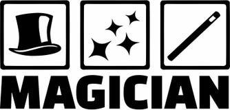 Magician Tools vector. Occupation magic Stock Photos