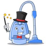 Magician vacuum cleaner character cartoon Royalty Free Stock Images