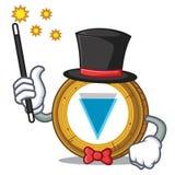 Magician Verge coin mascot cartoon. Vector illustration Stock Photos