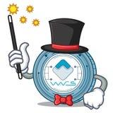 Magician Waves coin mascot cartoon. Vector illustration Stock Images